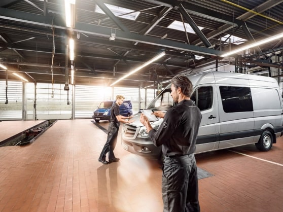 Mercedes-Benz Digital Service Report for your leisure and camping van