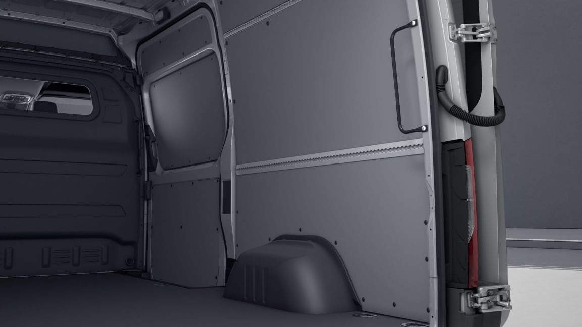 Sprinter Panel Van, interior panelling in load compartment up to height of roof, washable
